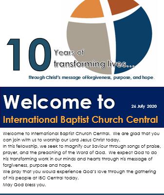 IBC Cental Bulletin 26 July 20